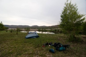 Camp along the Big Sandy